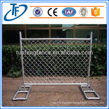 2400x2100 China Supplier Black Spear Top Temporary Steel Fence Panels