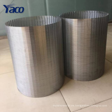 2017 nuevo tipo rapezoidal Welded Johnson Stainless Steel Wedge Wire Screen