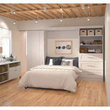 Wooden Invisible Folding Master Beds Combination Wardrobe