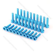 Personnaliser la vis à tête hexagonale en aluminium de couleur ronde / à tête cylindrique