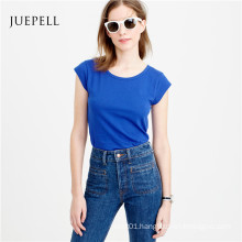 Cap Sleeve Cotton Women T Shirt