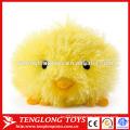 Hairy plush toy custom yellow stuffed chicken toy