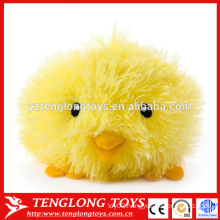 Hairy plush toy custom yellow stuffed chicken toy