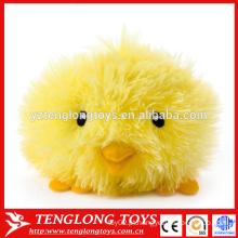 Peludo brinquedo de pelúcia brinquedo de pelúcia amarelo recheado de frango