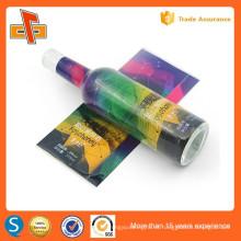 Guangzhou impresión de la fábrica y el proveedor de material de embalaje personalizado de calor sensible pvc encogimiento etiqueta manga