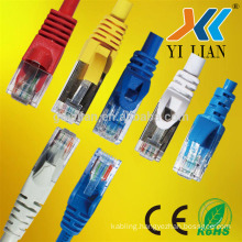Factory price china base rj45 computer network cable patch cord extension cable cat5e cat6 utp sftp molex pass qc test