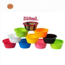 Portable Puppy Dog Bowl Pet Collapsible Slow Feeding Bowl with Hook Eco-friendly Pet Water Feeder Supplies