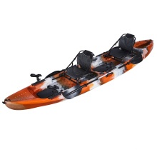 LSF Double Seat 2 Person 13FT Fishing Sit On Top Canoe LLDPE Plastic Kayak