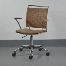 Hot Sale Modern Height Adjustable Metal Leather Office Chair with Wheels (SP-LC290)