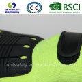 Luva de trabalho de segurança resistente ao corte com nitrato de nitrilo