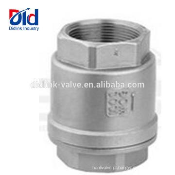 Para o Gás 1 Globo de Aço Inoxidável de 2 Polegadas 8 Válvula de Retenção de Ar Manual de Baixa Pressão Pneumática Rosqueada Com Rosca