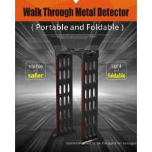 Portablewalk durch Metalldetektor