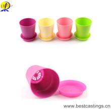 Круглый пластиковый Цветочный горшок с поддоном лоток