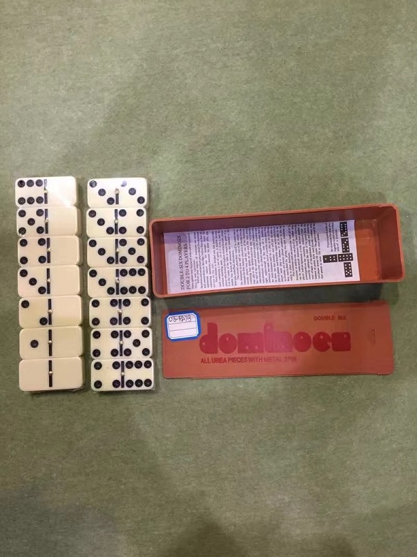 Double 6 Plastic Dominoes In Plastic Box