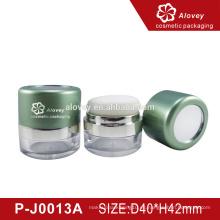 Tamiz giratorio Caja de polvo suelto / contenedor de polvo suelto / Embalaje cosmético de lujo con esponja de hojaldre