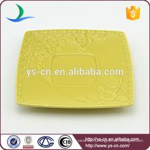 Modern ceramic decoration flower square plates