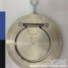 Valve de retenue pivotante en acier inoxydable en acier moulé en acier Wcb / Lcb