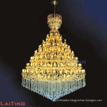 Large gold lamp industrial, hotel lobby chandelier lighting 81133