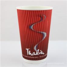 Tasses à café jetables personnalisées de papier de Chaep