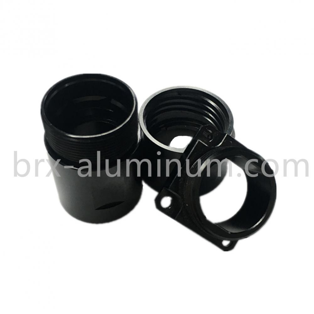 Black hard anodized part