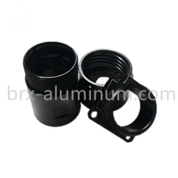 Black Hard Anodized aluminum precision part