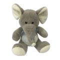 Pelúcia sentado elefante cinzento brinquedo
