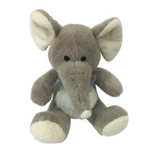Plush Sitting Elephant Gray Toy