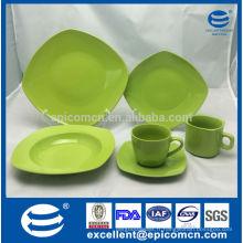 Vaisselle OEM populaire, ensemble de dîner en porcelaine glacé en couleur unie