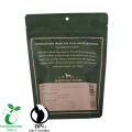 Ziplock que se puede volver a sellar Eco Friendly Food Packaging Brown Paper Coffee Bag with Valve