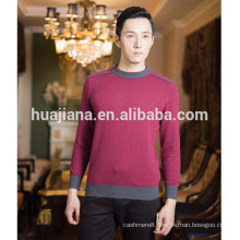 2015 fashion men's 100% cashmere sweater