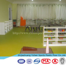 pvc vinyl flooring for kindergarten use antislip fireproof waterproof floor