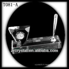 Magnifique horloge en cristal K9 T081-A