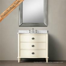 Cabinet de salle de bain en bois massif de nouvelle conception en gros