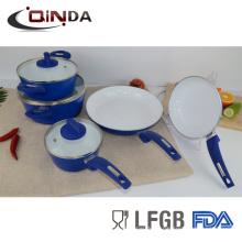 Juego de utensilios de cocina de recubrimiento de cerámica, 8 piezas