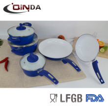 8шт белый керамический комплект cookware покрытия