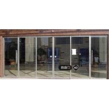 Ouverture de porte en verre coulissante à capteur
