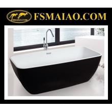 Baignoire de salle de bain acrylique moderne portable blanc et noir (9010)