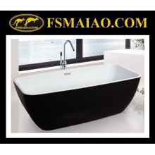 Portable Modern Acrylic Bathroom Bathtub White & Black (9010)