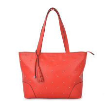 Zipper Craze horse Leather Personalized Shoulder bag Female