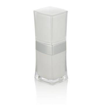 10/15 / 20ml botellas plásticas de lujo botellas plásticas blancas del embalaje plástico con la botella plástica blanca de la loción del casquillo al por mayor