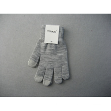 10g Polyester Liner Three Finger Double Color Touch Work Glove-T2002