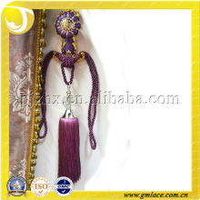 Nuevo diseño de cortina de seda Decor Tieback Tassel