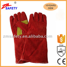 Red Cow Split Leather Welding Gloves