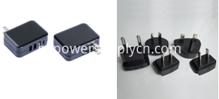 interchangeable plug USB wall charger