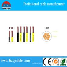 16AWG Conducteur en cuivre Isolation en PVC échoué Câble simple Câble Thw