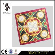 Bufanda de seda blanca de la tela cruzada de 14 milímetros para la bufanda 90 * 90 del satén de la impresión digital bufanda cuadrada