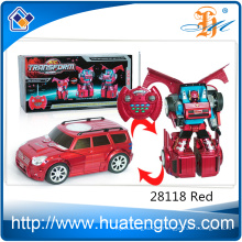 Promotional remote control car transform robot toy for kids