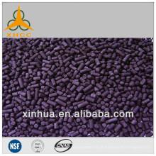 Carvão activado impregnado com álcali