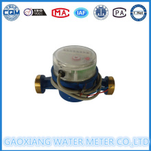 Single Jet Brass Water Meter with Pulse Output