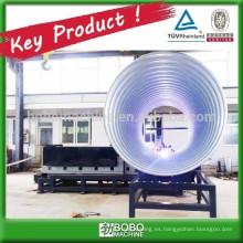 Máquina metálica espiral ondulada de conducto de drenaje